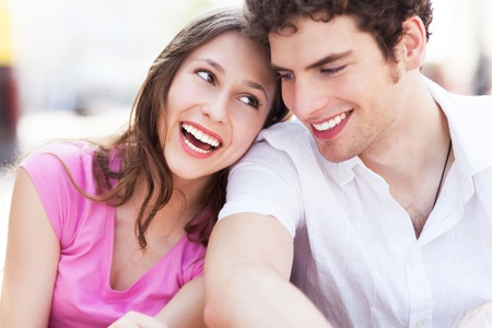 Young couple smiling photo