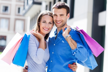Young couple shopping photo