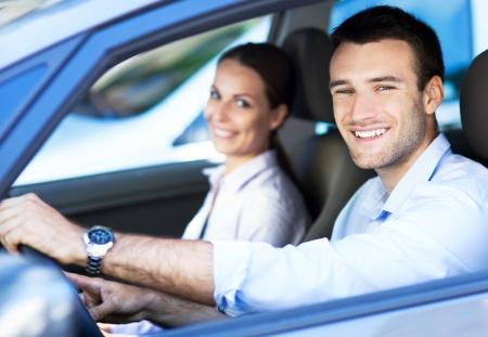 exitacion: Pareja en el interior del coche