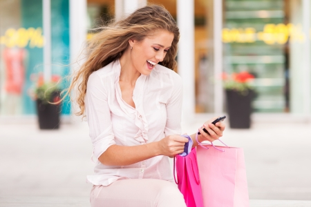 Attractive woman shopping photo