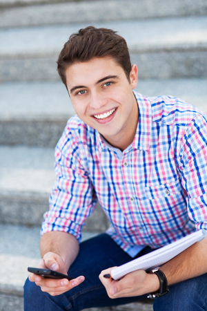 Male student smiling photo