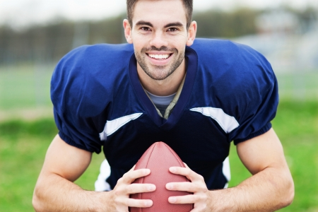 football jersey: American male football player