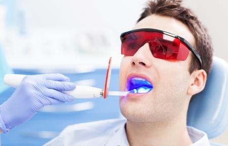 dental practice: Dentist ultraviolet light equipment