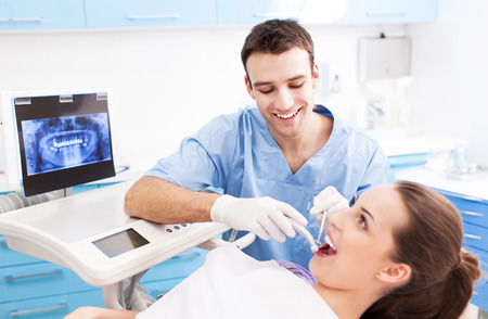 male dentist: Dentist office Stock Photo