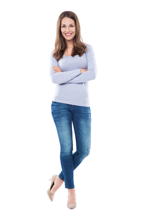 standing: Attractive woman standing Stock Photo