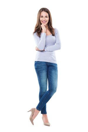 stilettos: Attractive woman standing Stock Photo