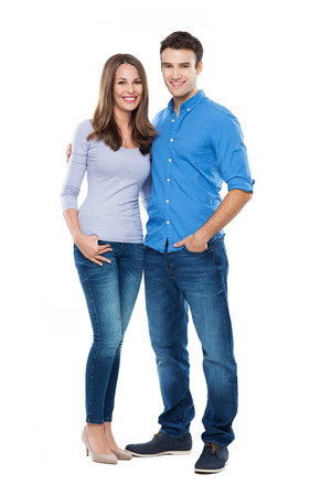 Young couple standing Imagens