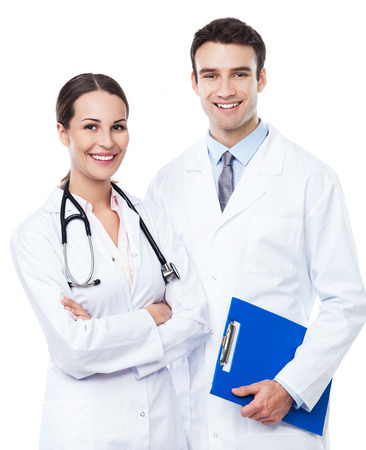 Male and female doctors  photo