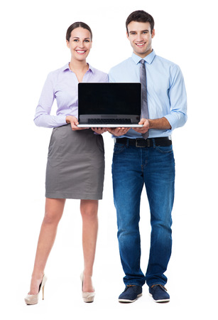 Business people with laptop photo