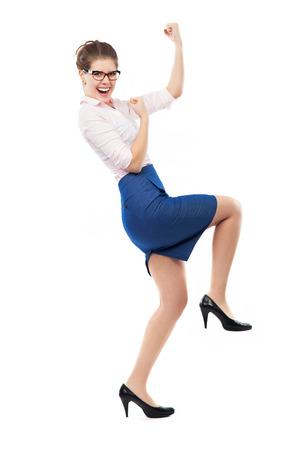Joyful business woman photo