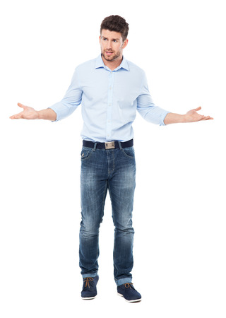 Man making helpless gesture photo
