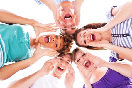 Friends shouting photo