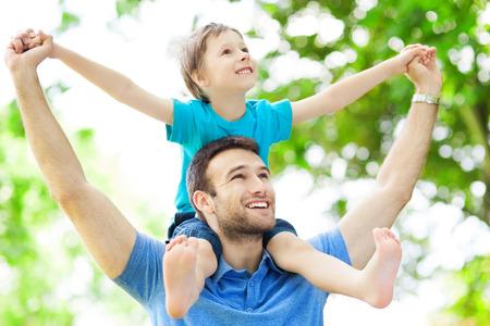 Otec a syn Reklamní fotografie