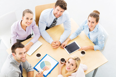 Business team, high angle photo