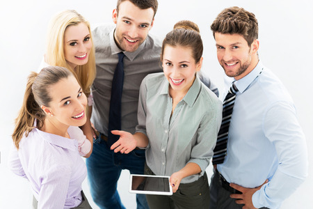 Business people, high angle view photo