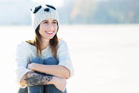 wolly: Girl wearing woolen cap