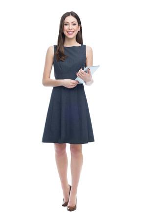 Žena drží digitální tablet Reklamní fotografie