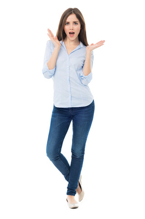Surprised young woman Zdjęcie Seryjne