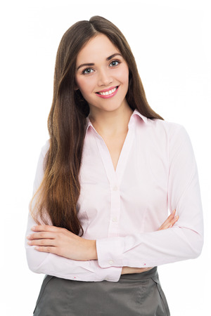 facial expression: Attractive young woman Stock Photo