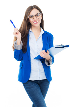 successful student: Female student smiling