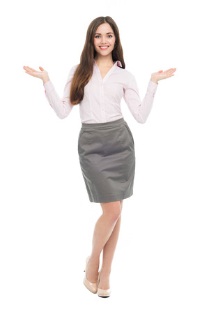 isolatedrn: Young business woman gesturing