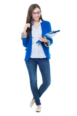 女子学生の帳簿 写真素材