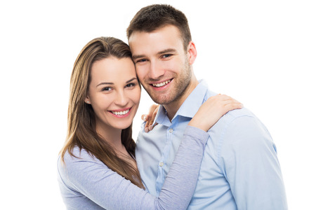 uomo felice: Felice giovane coppia