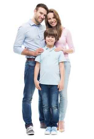 Famille avec fils Banque d'images