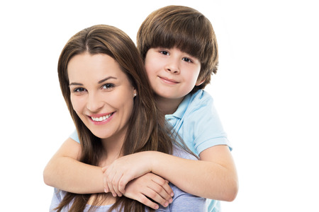 young mother: Mother and son Stock Photo
