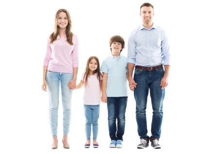 father and daughter: gia đình trẻ với hai trẻ em