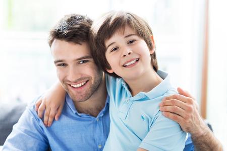 padre e hijo: padre e hijo Foto de archivo