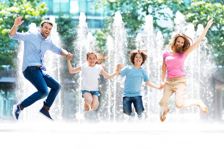 familie springen