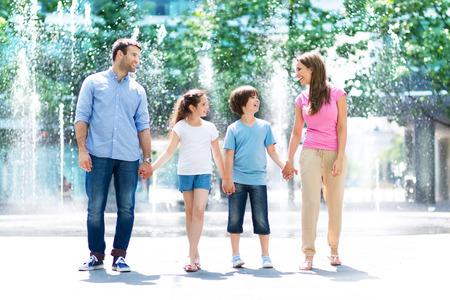 Family outdoors Stockfoto