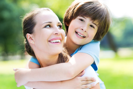 mother and child relationship: mother and son Stock Photo