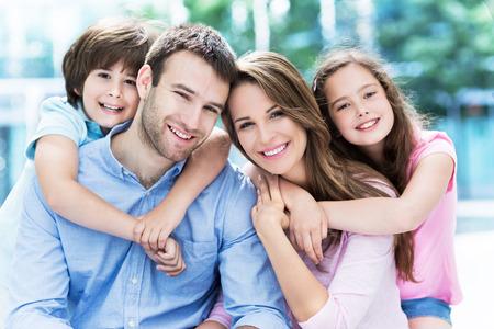 familia: retrato de familia  Foto de archivo