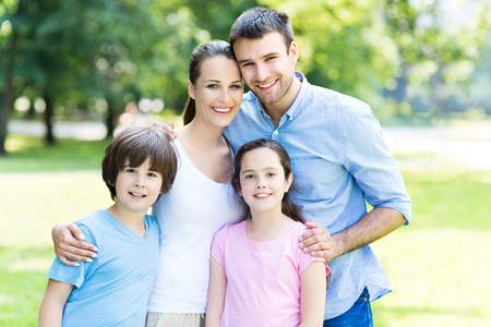 家族: 家族の肖像画 写真素材