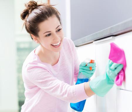 domestic: limpieza de la cocina Foto de archivo