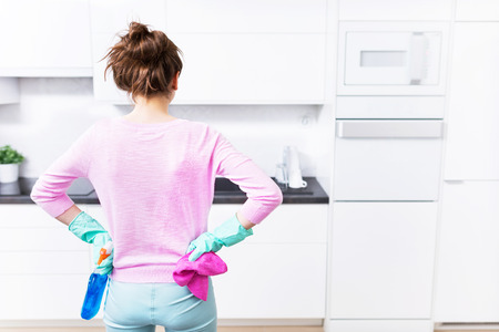 a kitchen: kitchen cleaning