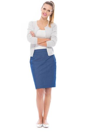 persona de pie: Situación joven de la mujer