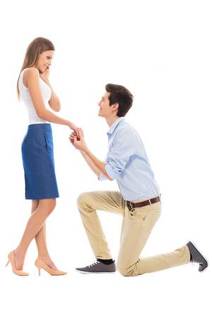 estrofa: la propuesta de matrimonio estrofa Foto de archivo
