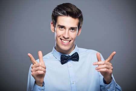 young man smiling Stock Photo - 42921598