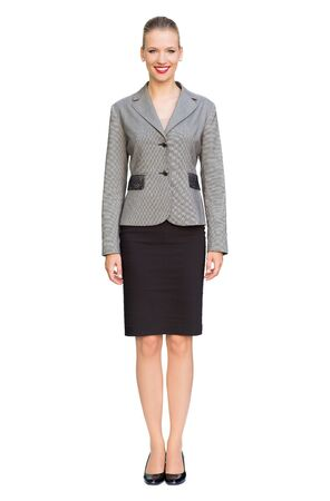 over white background: Businesswoman standing over white background Stock Photo