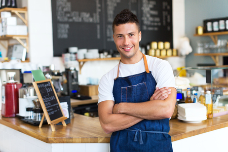 Man working in a coffee shop