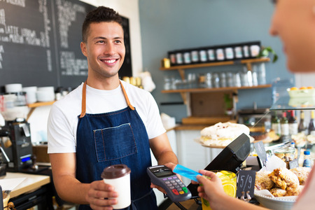 seller: coffee shop Stock Photo