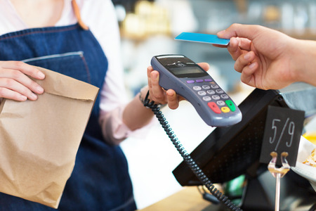 terminals: Customer Paying Through Credit Card
