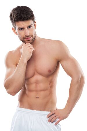 nude male body: Male beauty Stock Photo