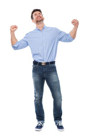 clenching fists: Man clenching fists