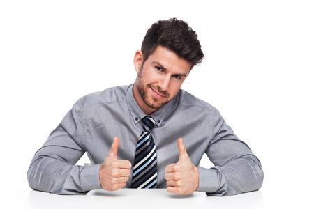 success man: Man with Thumbs Up