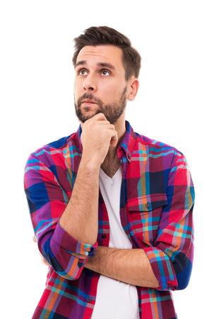 Young man thinking Stockfoto