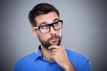 hombre pensando: Pensar hombre